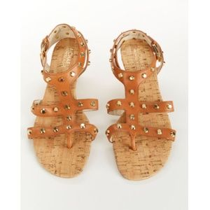 Michael Kors Women's Tan Studded Sandals